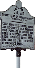 A sign of historical Bel Air, Maryland where Rodier Family Law is located.
