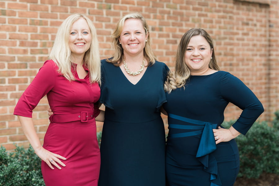 The Harford County lawyers at Rodier Family Law, including Samantha Protokowicz Rodier, Sarah Gable and Krystle Acevedo Howard.